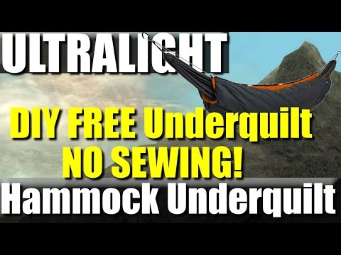 FREE DIY Ultralight Hammock Underquilt - No sewing required!
