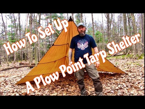 How To Set Up A Plow Point Tarp Shelter